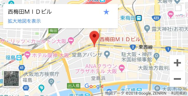 ネオキャリア大阪支社の場所・地図